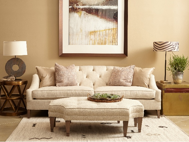 Amelie Sofa & Roswell Ottoman by Norwalk Furniture