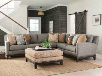 Smith Brothers 238 Sectional & Ottoman